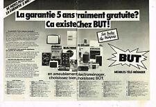 Publicité Advertising 1979 (2 pages) Meubles TV Hi-Fi Video magasins BUT