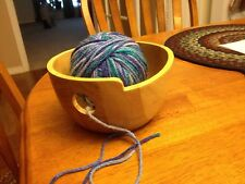 Wooden Yarn Bowl Tool Needlecraft Knitting Crochet New Condition