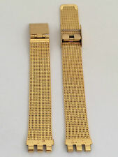 SWATCH CINTURINO WATCH ORIGINAL STRAP BAND UHR RELOJ  STEEL GOLD 14 MM SW217