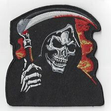 LARGE 4ins  THE GRIM REAPER  IRON ON PATCH  BUY 2 GET ANOTHER  FREE = 3