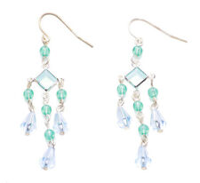 Sky Blue & Ocean Turquise Dangled / Metal Earings.(Zx72)