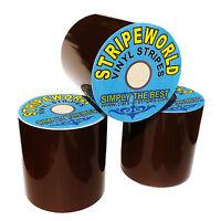 40mm Dark Brown Vinyl Stripe for car  caravan or boat sold by the metre
