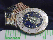 VIETNAM GULF WAR OEF OIF AFG-PAK LAPEL PIN COLLECTIONS: Twin-Flag US Air Force