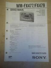 Sony Service Manual~WM-FX477/FX479 Walkman Radio Cassette Player~Original~Repair