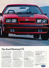 1985 Ford Mustang GT 2-page Original Advertisement Car Print Ad J505