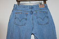 Women's~LEVI'S 550 Classic RELAXED Tapered LEG~Faded~LIGHT WASH~Blue Jeans~16 M