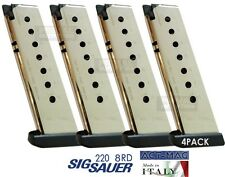 4 PACK Sig Sauer P220 8rd magazine .45 ACP NICKEL ACT MAG Made In Italy NEW