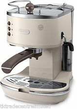 Delonghi ECOV311.BG Vintage Icona Pump Espresso Cappuccino Coffee  Machine Cream