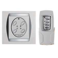 Smart Home Wireless RF 4 Channel Digital Remote Control Light Switch