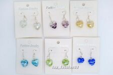 wholesale lots 6pair Fashion Jewelry Charm heart murano glass bead earring