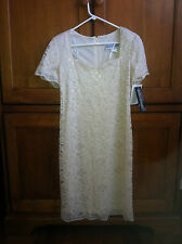 Jessica Howard size 10 champagne ivory lace white l dress woman's ladies NWT
