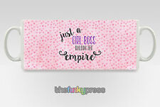 Just A Girl Boss Building Her Empire Mug Cup Tea Coffee Pink Hearts