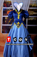 FAIRY TAIL Juvia Lockser cosplay costume blue colour party lolita Dress