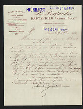 """NEVERS (58) COMMISSIONS & CONSIGNATIONS / GRAIN FARINE """"BAPTANDIER Freres"""" 1910"""