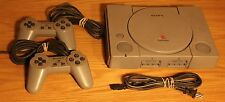 PLAYSTATION 1 PS1 System with 2 CONTROLLERS TESTED FAST/FREE SHIPPING no tv cord