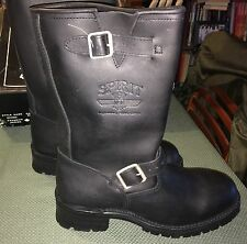 Engineer Motorcycle Leather Boots Men's US-11