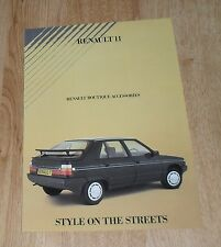 Renault 11 Folleto De Accesorios Boutique 1985
