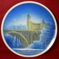ROSENTHAL Classic Rose WEIHNACHTEN Christmas Plate 1979 Cathedral in Luxenbourg