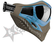 V-Force Grill Paintball Mask - SC Blue on Taupe