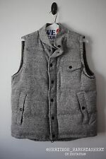 Saturdays Surf NYC Grey Wool Goose Down Vest Button Pocket Sz. S SOLD OUT