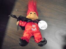 """RUSS """" Red Hot Stuff Devil"""" With Red  Hair""""  Troll Doll  6"""""""
