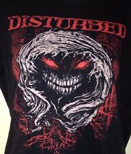DISTURBED WARRIOR LADIES FITTED LARGE T-SHIRT ROCK 2010 METAL OUT OF PRINT!