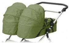 Mt Buggy 2009 Carrycot Moss Green For Double Stroller
