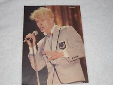 DAVID BOWIE & REAL LIFE pin up poster two sided full color pic from teen mag. @@
