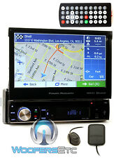 "POWER ACOUSTIK PDN-726B 7"" TV CD DVD GPS BLUETOOTH USB SD AUX NAVIGATION RADIO"