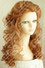2016 new wig Strawberry Blonde Fluffy curly hair wave of fashionable women wig