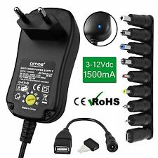 1500mA 1.5A Universal EU 2 Pin AC/DC Adaptor Mains Plug Power Supply USB Charger