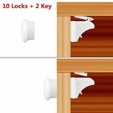 10pcs Magnetic Child Infant Baby Kids Drawer Door Cabinet Cupboard Safety Lock