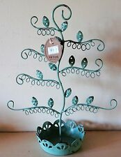 Shabby Chic Metal Earring Stand Duck Egg Blue