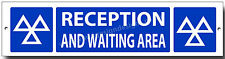 M.O.T RECEPTION AND WAITING AREA  METAL SIGN.MOT SIGNS,GARAGE,WORKSHOP.