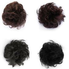 Natural Look Synthetic Elastic Scrunchie Curly Bun Hair Piece Hair Extension UK