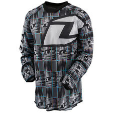 NEW ONE INDUSTRIES CARBON STATIC BLACK JERSEY MX ATV BMX YOUTH KIDS XLARGE