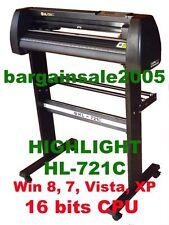 HIGHLIGHT HL-721C VINYL  CUTTING PLOTTER CUTTER4MB CORELDRAW Optical Eye Win 10