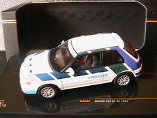MAZDA 323 GT-AE 1991 WHITE BLUE GREEN VIOLET IXO CLC237 1/43 RIGHT HAND DRIVE