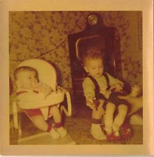 Old Vintage Photograph Two Babies Doll Retro Television Crazy Wallpaper 1952