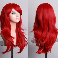 Colorful Womens Long Hair Wig Curly Wavy Synthetic Anime Cosplay Party Full Wigs