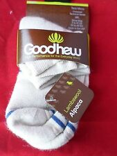 1 Pair Goodhew Taos Alpaca Merino Wool Low Cut Womens Socks Khaki Shoe 7-10 USA