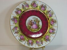 "JKW WEST GERMANY FRAGONARD SIGNED LOVE STORY PORCELAIN PLATE, 10.5"", GORGEOUS!"