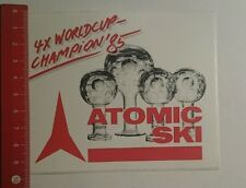Aufkleber/Sticker: Atomic Ski 4x Worldcup Champion 85 (241016187)