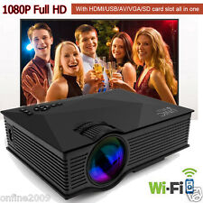UNIC UC46 Full HD LED Video Projector WIFI 3D Home Cinema Theater HDMI USB VGA