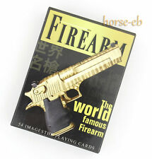 World Famous Gun Theme Playing Cards Paper Poker Single Deck Brand New