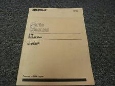 Caterpillar Cat 215 Hydraulic Excavator w/ 3204 Engine Parts Catalog Manual