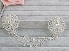 Diamante Hair Comb Floral Wedding Headdress Crystal Bridal Accessories 1 Piece