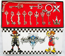 12pcs Kingdom Hearts II KEY BLADE Necklace Pendant+Keyblade+Keychain Set in box