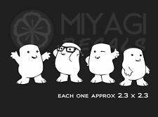 Dr Who Adipose 4 pack - Dr Who - Cute- Rare Vinyl decal sticker