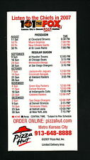 2007 Kansas City Chiefs Magnet Schedule